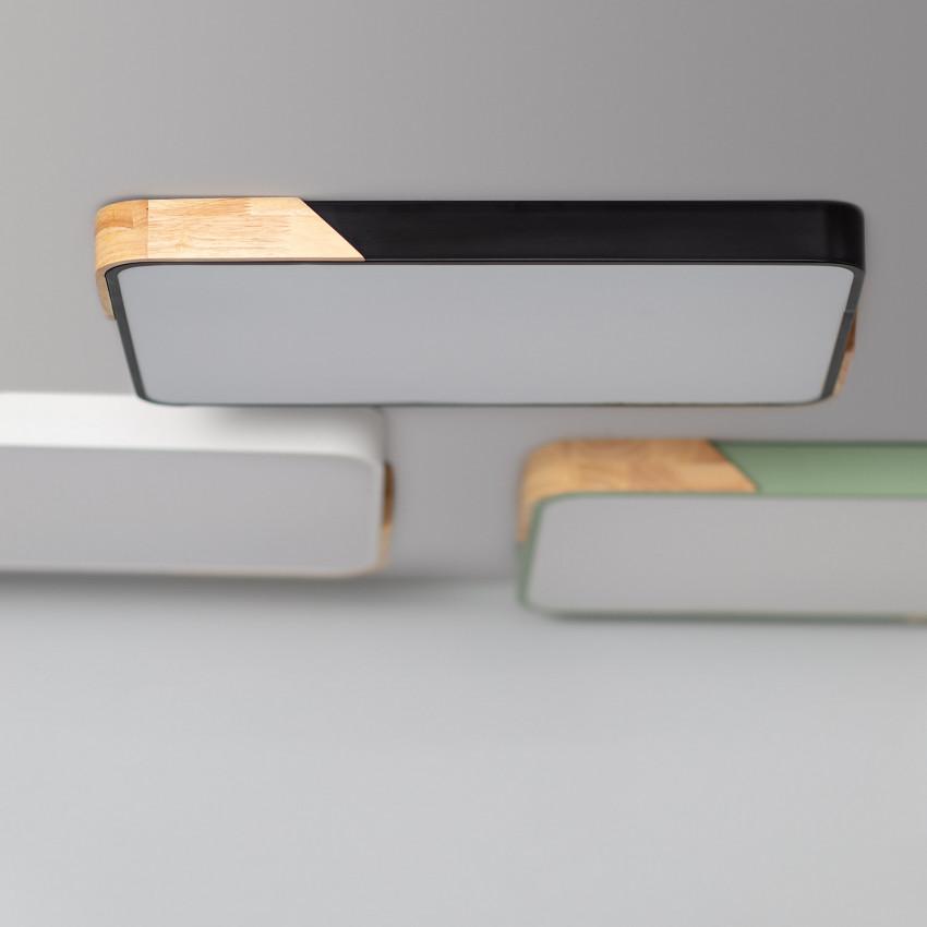 Rectangular 30W Semi- Dari LED Surface Panel with Selectable CCT