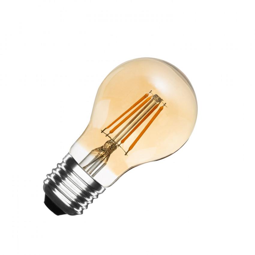 A60 E27 6W Classic Gold Filament LED Bulb (Dimmable)