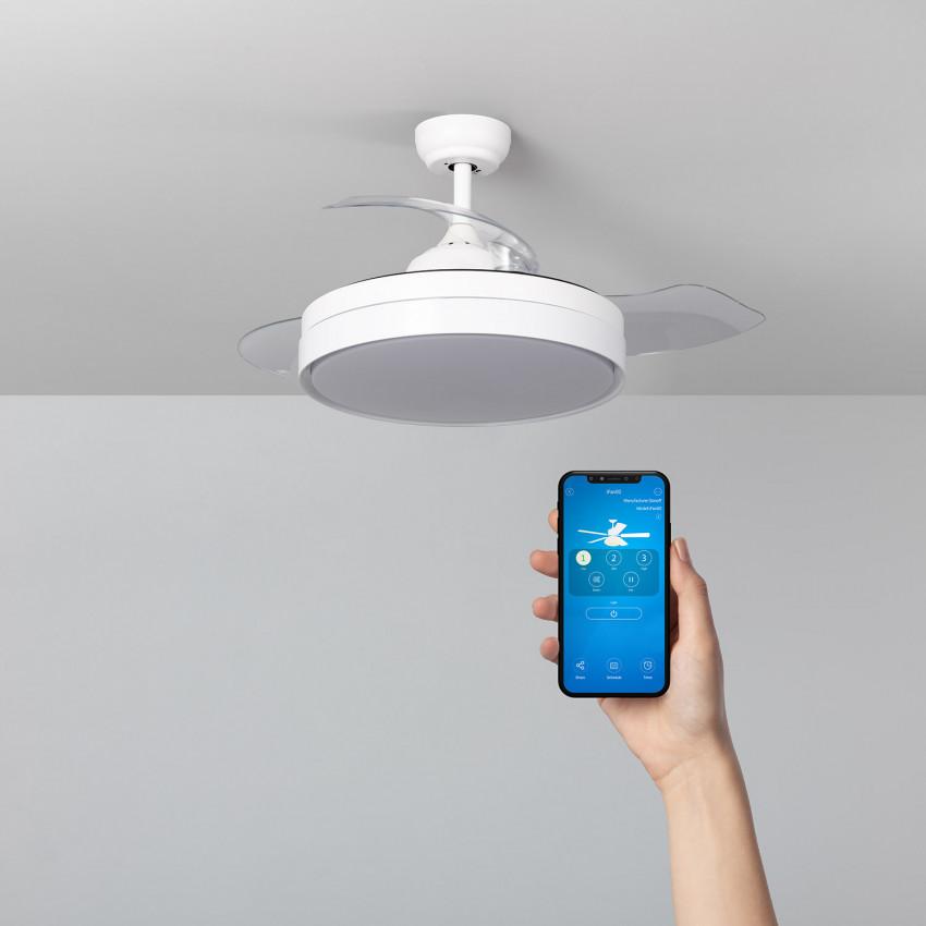 White 106cm Dalori LED Wifi Ceiling Fan with  DC Motor