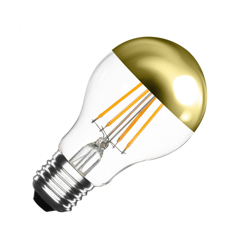 A60 E27 6W Gold Reflect Filament LED Bulb (Dimmable)
