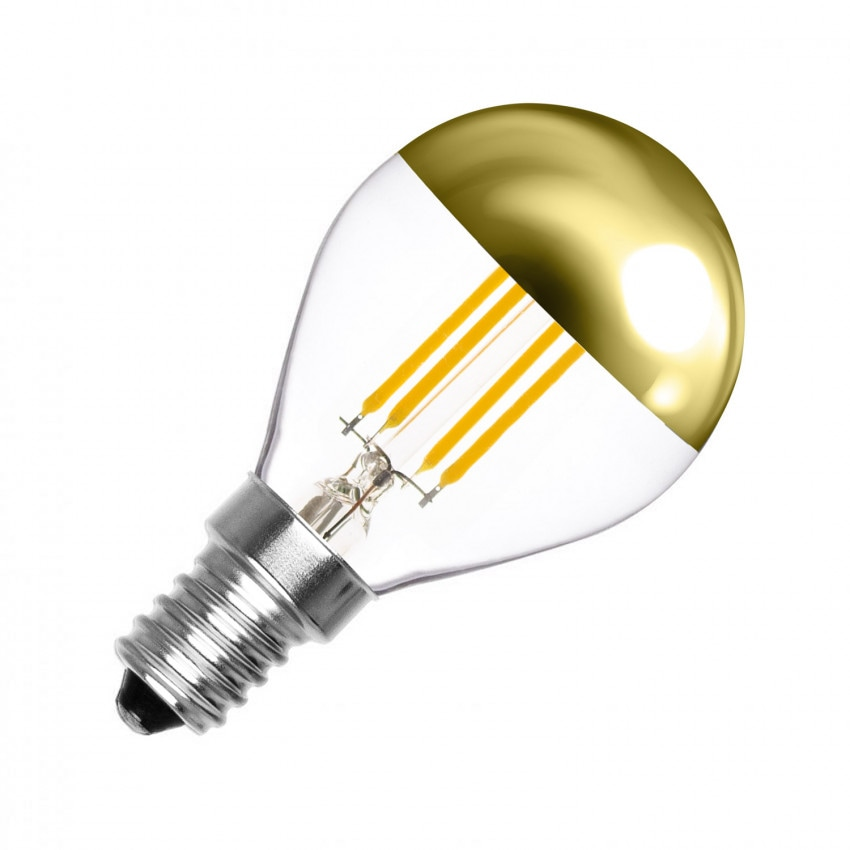 G45 E14 4W LED Gold Reflect Filament Bulb (Dimmable)