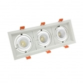3x10W Adjustable Madison CREE-COB LED Spotlight in White