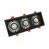 3x10W Adjustable Madison CREE-COB LED Spotlight in Black