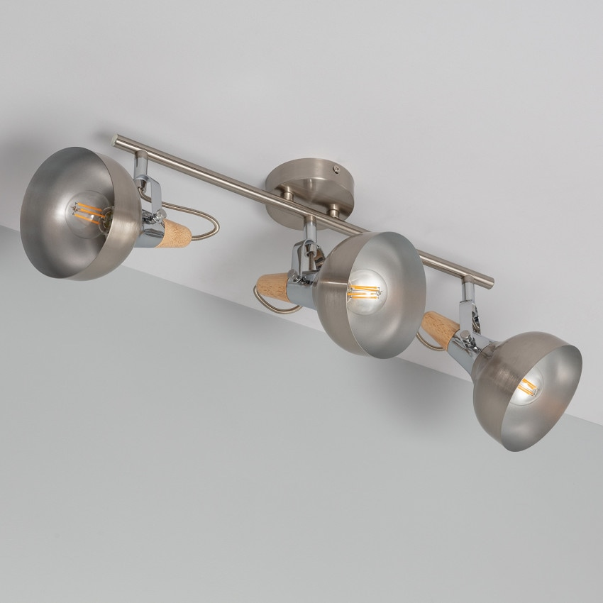 Adjustable Emer Surface Spotlights in Silver (x3)