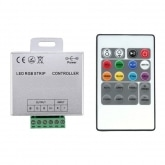 12/24V RGB LED Strip Controller + RF Remote Control Dimmer with 24 Buttons