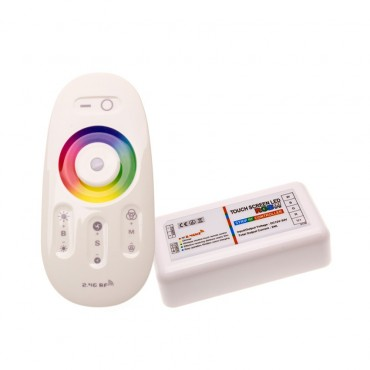 RGBW LED Tactile Controller + RF Remote Control Dimmer