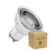 PACK of Glass GU10 7W COB LED Lamps (220V) (5 Units)
