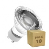 PACK of Glass GU10 5W COB LED Lamps (220V) (10 Units)