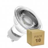 PACK of Glass GU10 45º 5W COB LED Lamps (10 Units)
