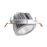 60W Round Adjustable Samsung LED Spotlight in Silver 120lm/W