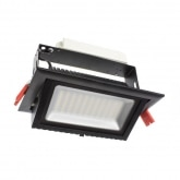 Black 48W Adjustable Rectangular Samsung LED Spotlight Projector (120lm/W)